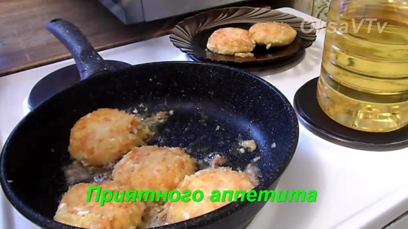 Овощные котлеты с крабовыми палочками и сыром. Vegetable cutlets with crab sticks and cheese