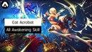 Kritika Cat Acrobat All Awakening Skill LV 10 Red Blue
