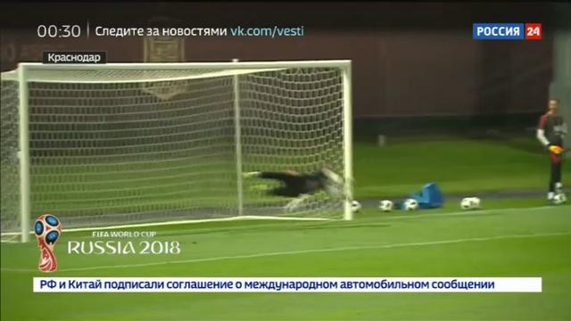 Новости на Россия 24 • Увидеть Красную фурию сборная Испании провела открытую тренировку в Краснодаре