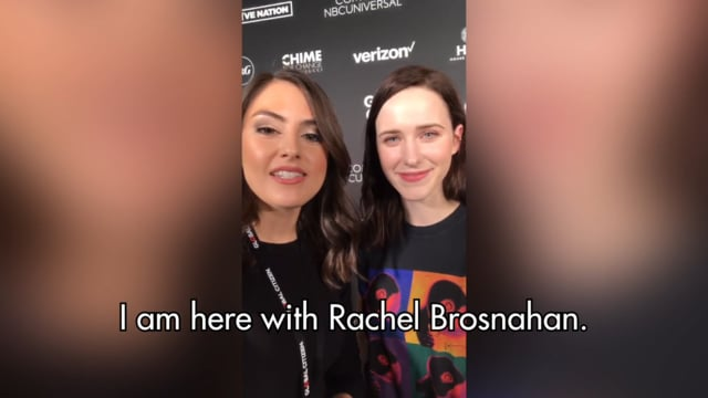 Rachel Brosnahan speaks to Know Your Value's Daniela Pierre-Bravo