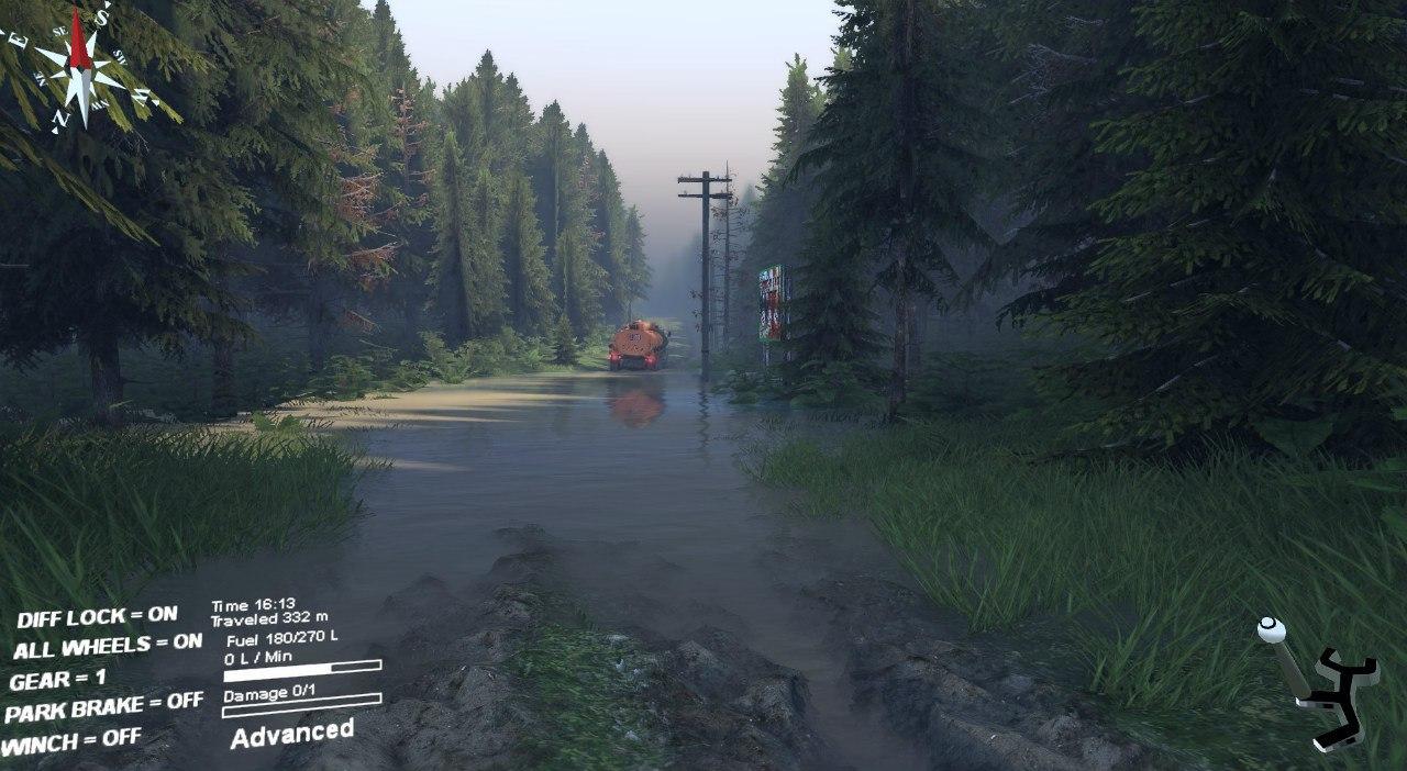 """Карта """"Сосновый бор"""" v 0.1 для Spintires - Скриншот 3"""