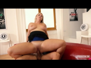 Busty Czech blondie Bambi Bell gets fucked hard in naughty casting