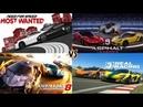 Need For Speed Most Wanted 2 vs Asphalt 9 vs Asphalt 8 vs Real Racing 3 GAMEPLAY! Max Settings