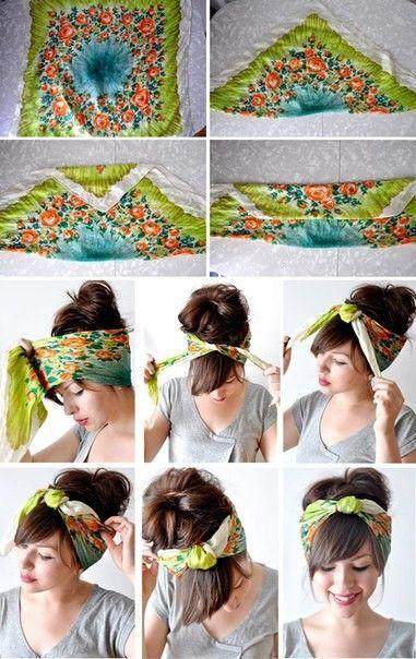 Идея завязать платок. (1 фото) - картинка