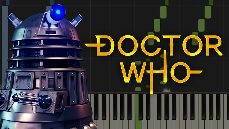 DOCTOR WHO THEME TUNE - Hard Piano Tutorial [Synthesia]