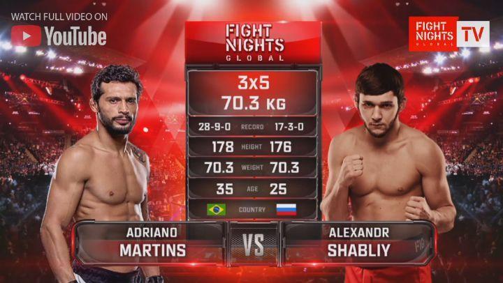 "🌎MMA - FIGHT NIGHTS GLOBAL🌎 on Instagram: ""🔥▶️Adriano Martins vs. Alexandr Shabliy / Адриано Мартинс vs. Александр Шаблий 📺Полное видео боя смотрит..."