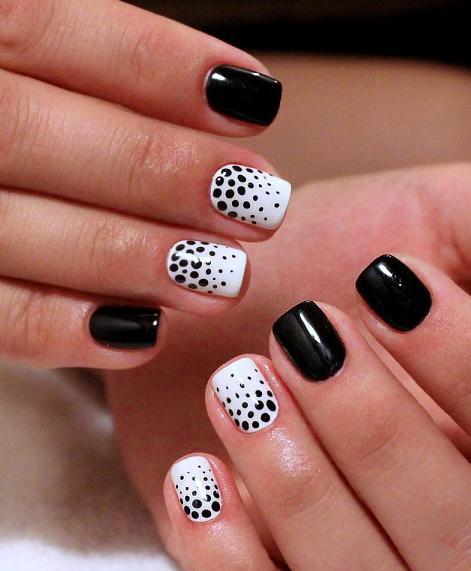 Дизайн ногтей шеллак черный фото