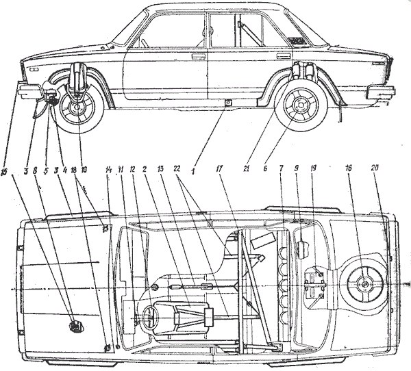 Спортивный автомобиль ВАЗ-2105