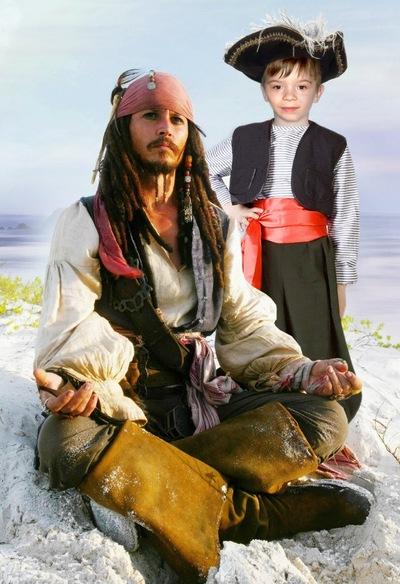 Мужской шаблон для фотомонтажа пират карибского моря