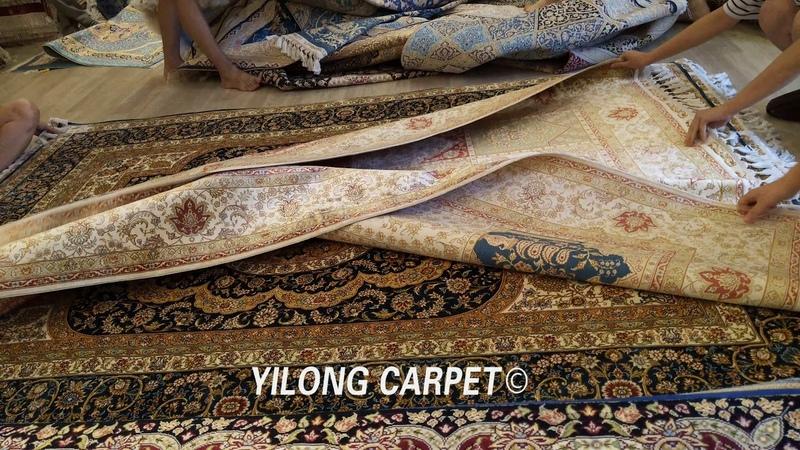 Pure silk Decorative Area HandWovenRug