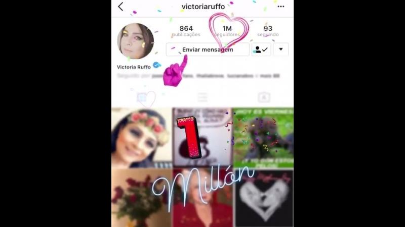Y nuestra Queen @victoriaruffo llega al MILLÓN de seguidores en Instagram ¡Felicidades Victoria! ¡Ahora si somos millones!