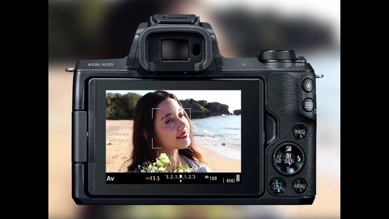 Canon EOS M50: автофокусировка на глазах