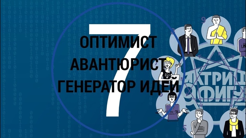 Психотип 7 МАТРИЦА 9 ФИГУР Оптимист Авантюрист Генератор идей Командные роли