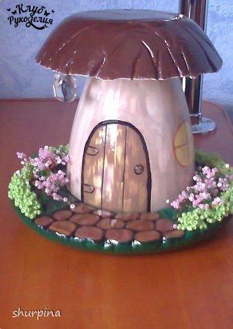Как сделать гриб-домик. (8 фото) - картинка