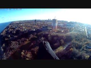 Полет над Волгой в городе Чебоксары