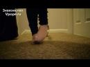 Sweaty nylon feet in heels with soles and toes Ножки Фетиш Фут Foot Fetish Чулки Legs Секси