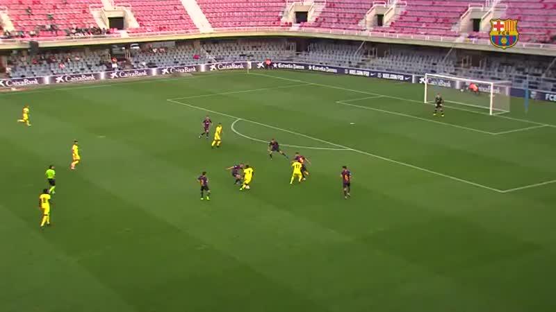 [HIGHLIGHTS] Així va ser l'empat del Barça B el passat dissabte davant del Vila-real B al Miniestadi, amb gol de Cuenca al minut