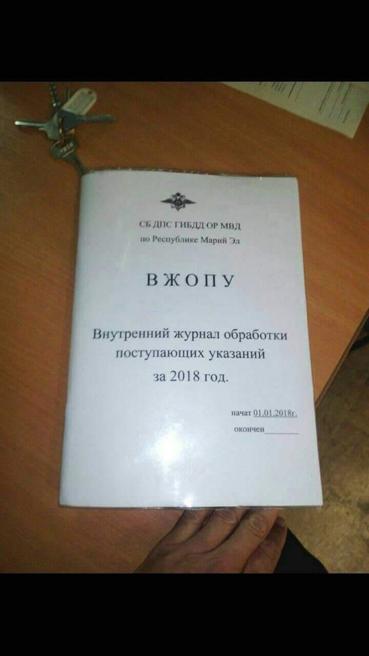 Внутренний журнал обработки поступающих указаний