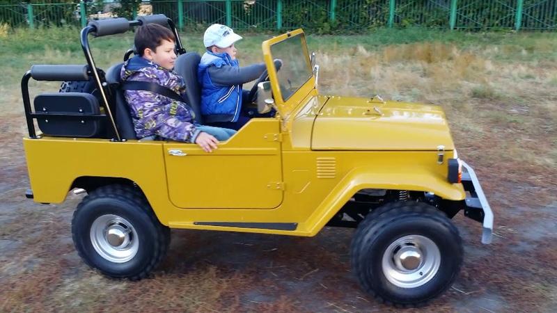 детский автомобиль на бензине Детский автомобиль своими руками junior car mini jeep
