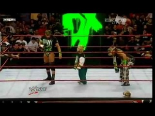 WWE Raw 11-16-09 Triple H Pedigrees Hornswoggle
