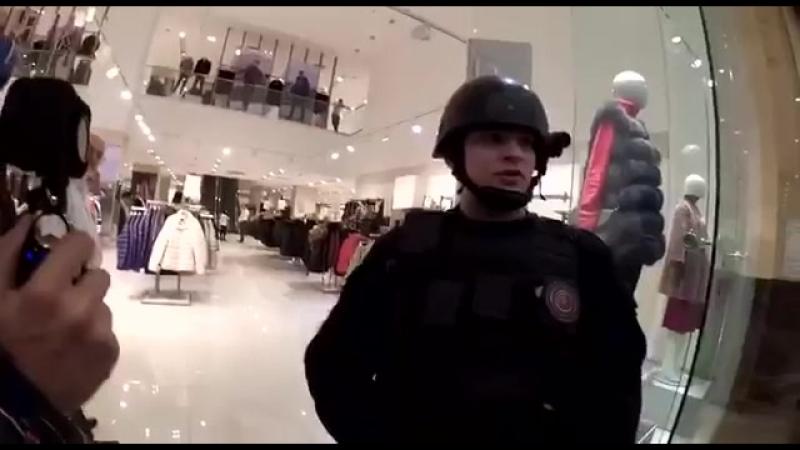 Беспредел охранников в московском ТЦ «Колумбус»