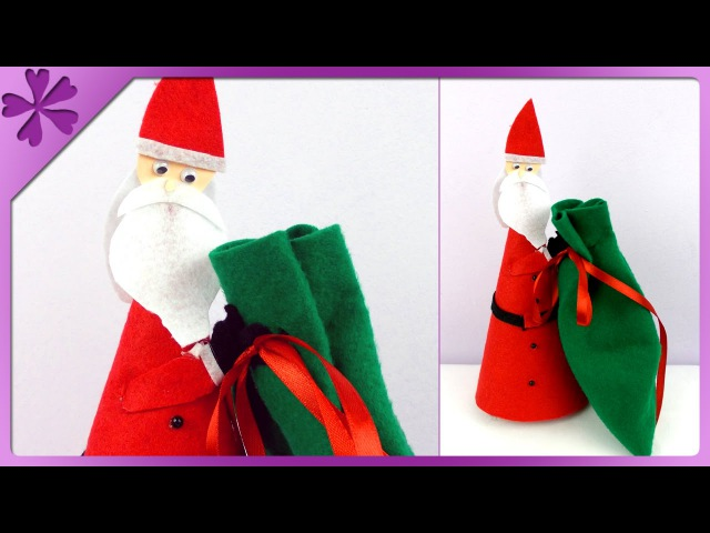 DIY Santa Claus with gift ENG Subtitles Speed up 157