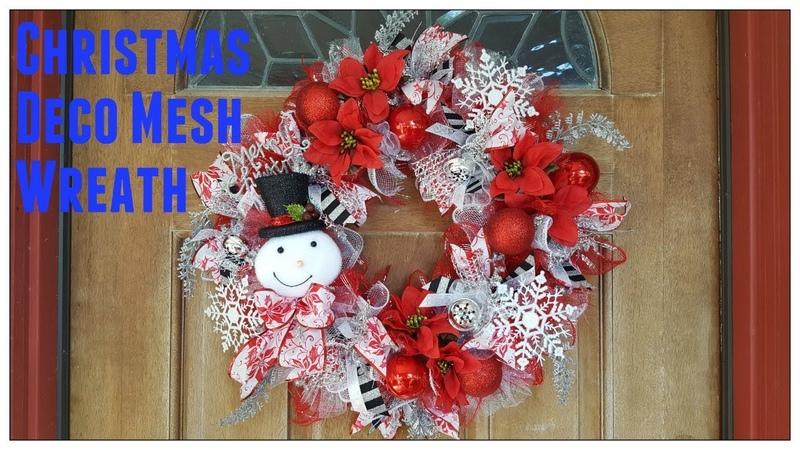 Tricia's Creation: Christmas Deco Mesh Wreath Dollar Tree