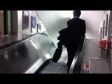 **ORIGINAL** Drunk Japanese businessman escalator fail