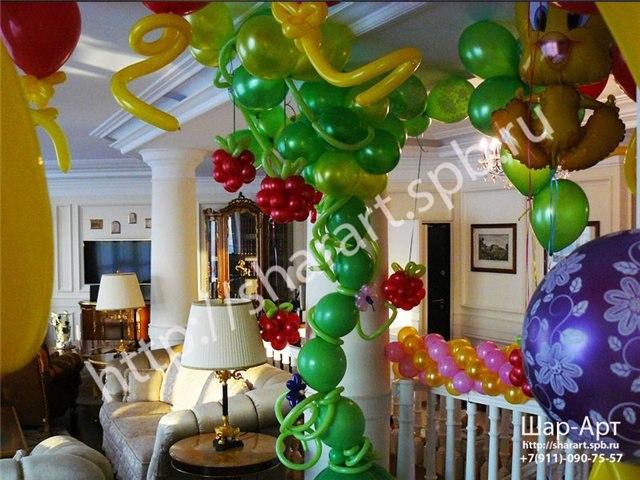 оформление шарами дня рождения ребенку