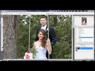 Example of Wedding portrait editing with Photoshop\\pkj