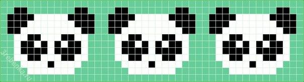 Фенечки с пандами схемы