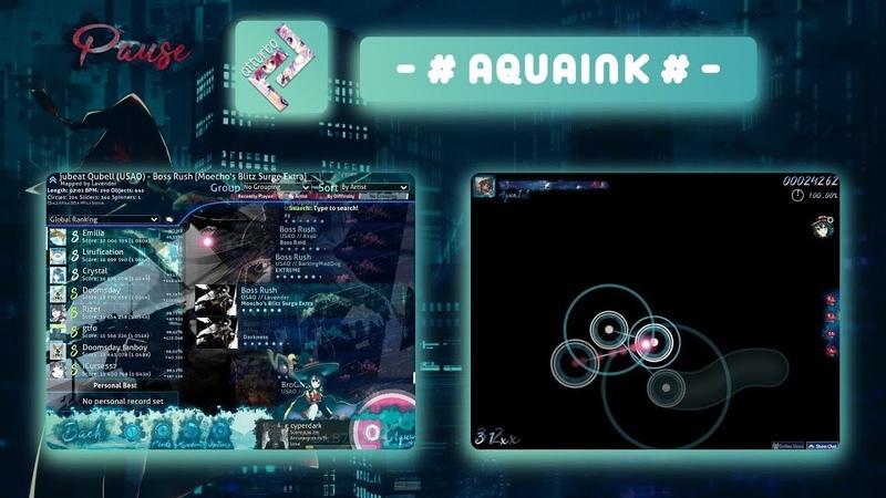 [osu!skins] Обзор скина: - AquaInk - (Krispus)