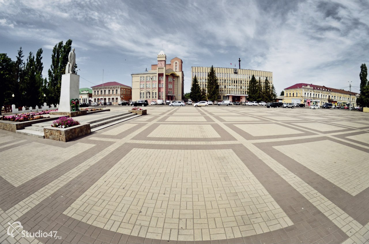 Центральная площадь Ленина в Борисоглебске
