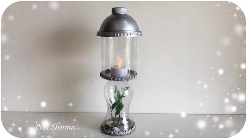 Best Out of Waste Plastic Bottle Lantern DIY Showpiece Out Of Plastic Bottle | Priti Sharma