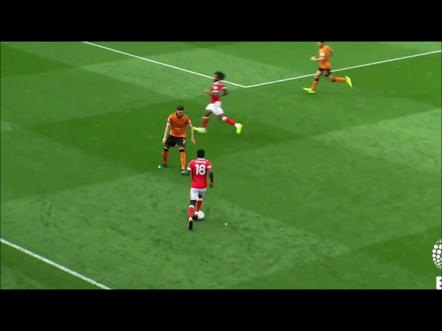 Mustapha Carayol Goal Nottingham Forest 1 - 2 Wolverhampton (16.09.2017)