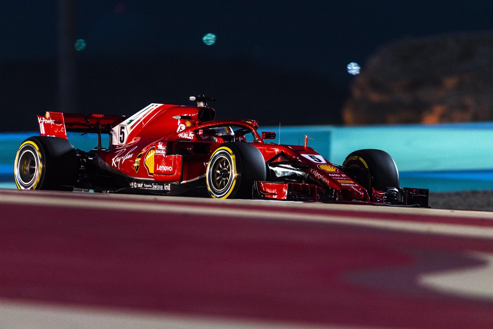 Себастьян Феттель - победитель гран-при Бахрейна 2018 года