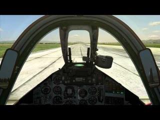 Вылет на новом кресле (Кресло кокпит 50%) И адский нагиб Су-25(28.09.2014)
