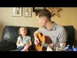 4 летняя девочка завоюет ваше сердце своим пением песни «Youve Got A Friend In Me» вместе с папой