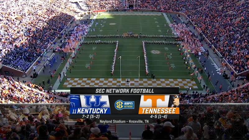 NCAAF 2018 / Week 11 / (11) Kentucky Wildcats - Tennessee Volunteers / 1H / EN