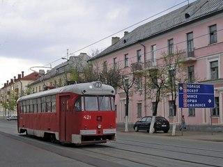 Витебск, трамвайный вагон 421.