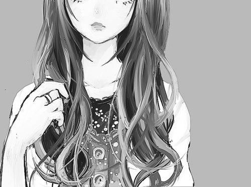 картинки аниме черно белые: