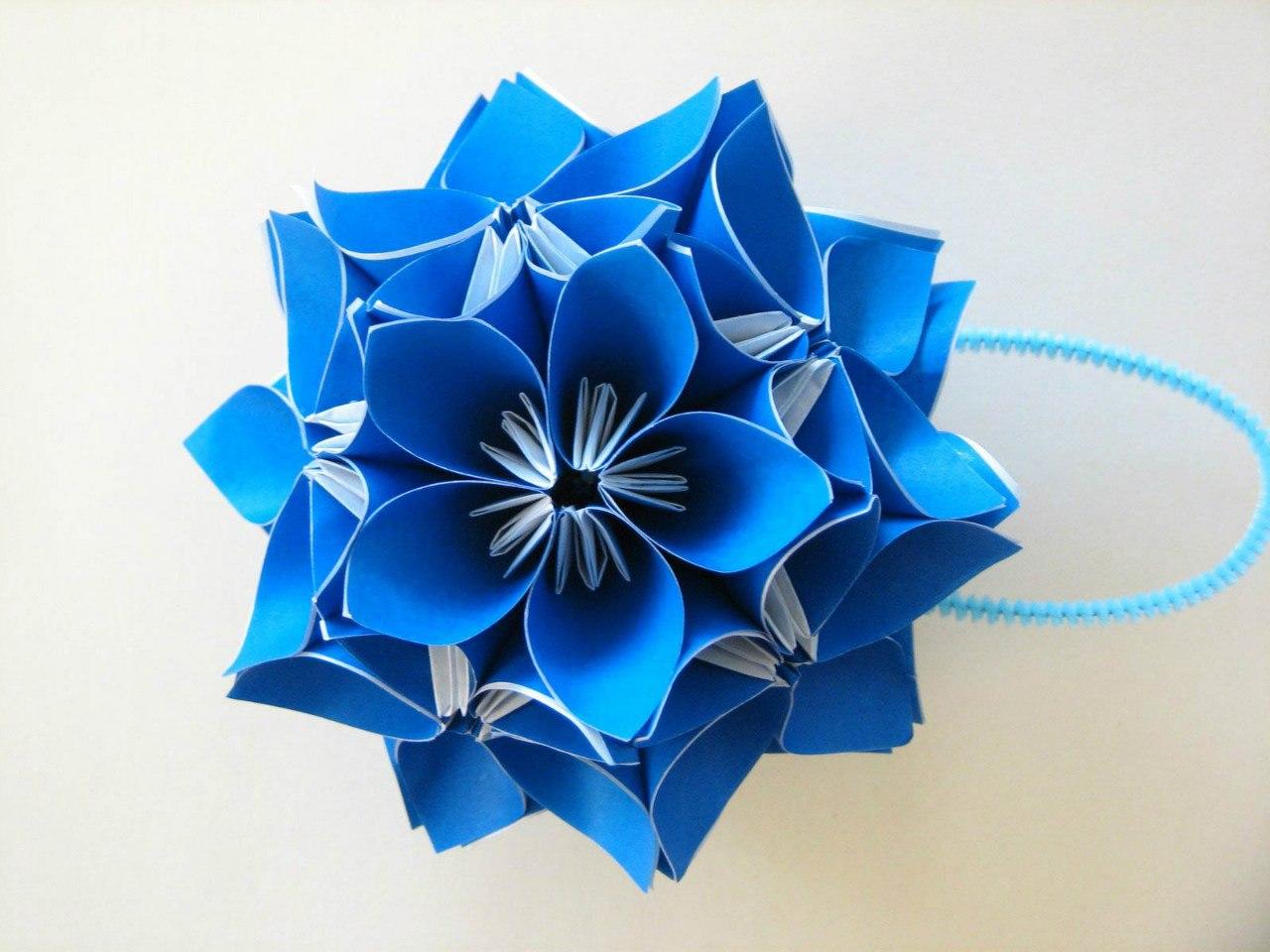 модульное оригами косудама схема