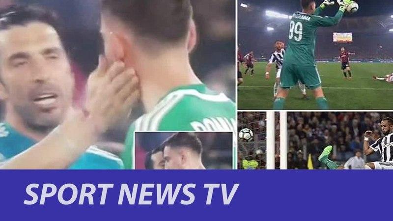 Sport News TV - Juventus icon Buffon consoles Donnarumma after Milan keeper's shocker