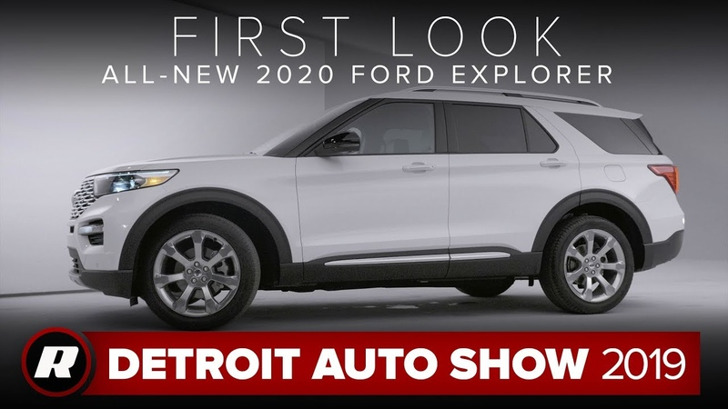 All new 2020 Ford Explorer is a more efficient spacious and tech filled three row SUV NAIAS 2019