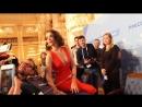 Наталия Орейро в московском пресс центре Чемпионата мира FIFA 2018 05 06 2018 Голая Грудь декольте