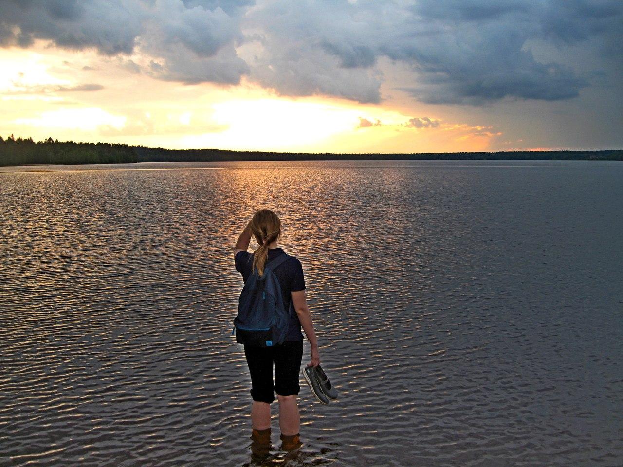 Вечер на Большом Симагинском озере