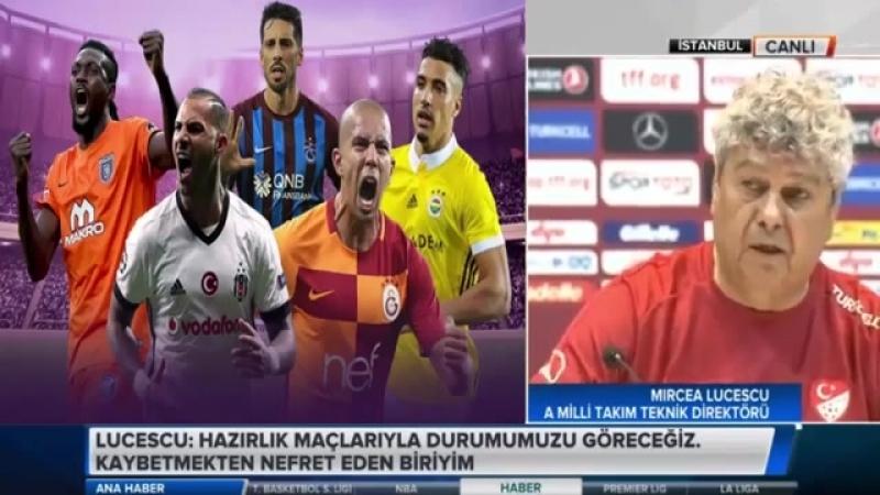 Mircea Lucescu ve Mehmet Topal Türkiye - İran Maçı Öncesi Basın Toplantısı 27 Mayıs 2018