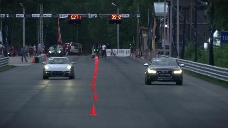 Dragtimes: Audi RS7 APR | Total Race Stage 2 vs Porsche 911 Turbo (997) MK.2 COBB Stage 2