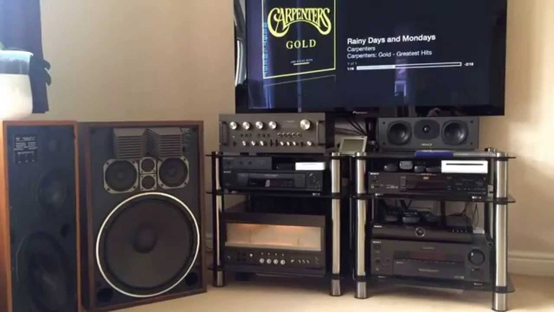The very Rare Technics SE-A1 Power Amp with SU-9600 Preamp and SB-G500 speakers.