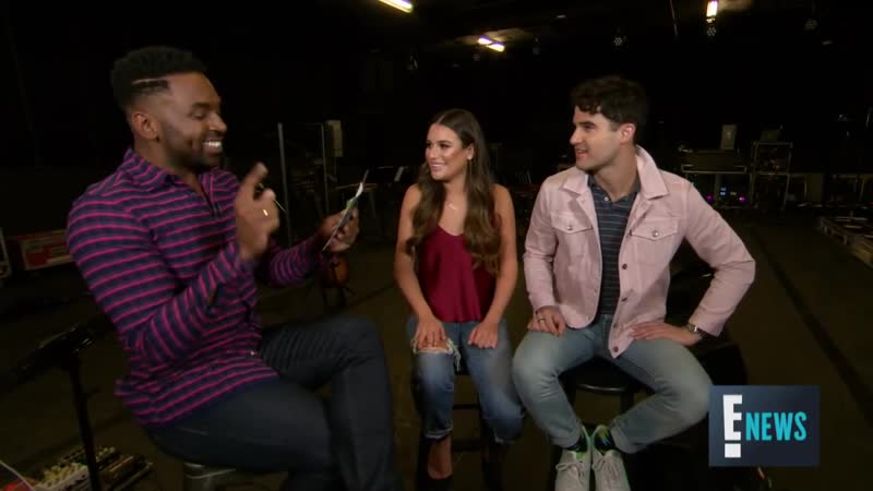 Lea Michele Darren Criss Play Hilarious Game With E!